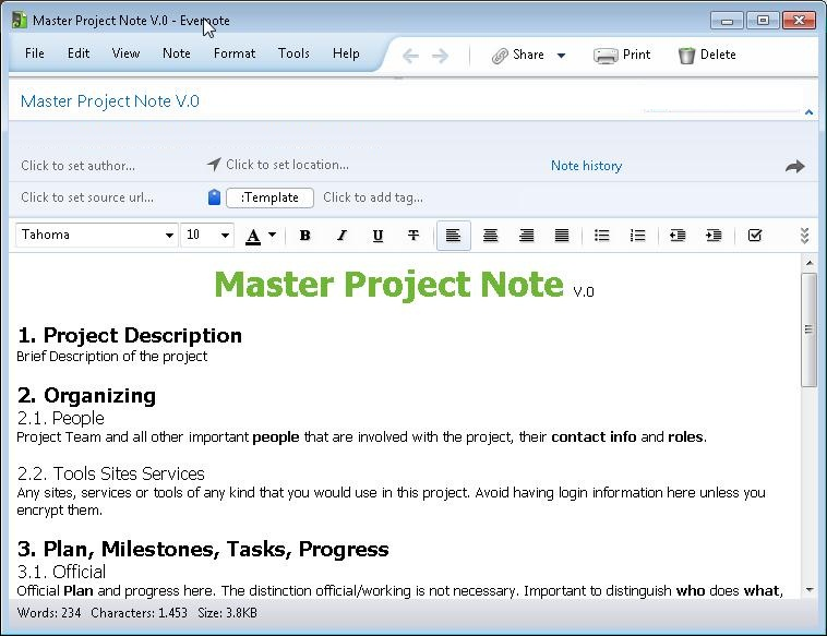Evernote – Project Master Note Template ← gieglas.com